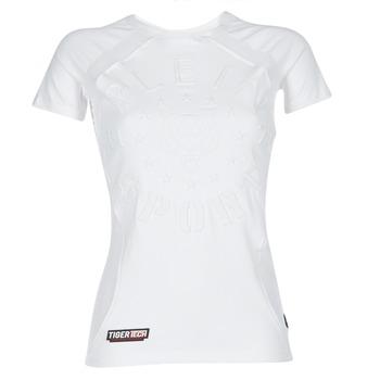 Îmbracaminte Femei Tricouri mânecă scurtă Philipp Plein Sport FORMA LINEA Alb / Alb