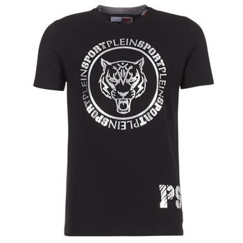 Îmbracaminte Bărbați Tricouri mânecă scurtă Philipp Plein Sport IVAN Negru / Argintiu