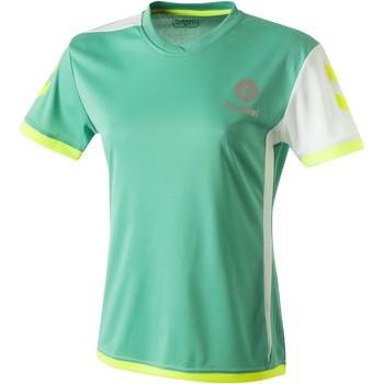 Îmbracaminte Femei Tricouri mânecă scurtă Hummel Maillot Femme  Trophy vert/blanc