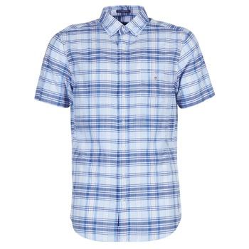 Îmbracaminte Bărbați Cămăsi mânecă scurtă Gant BLUE PACK MADRAS REG Albastru