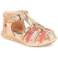 Pantofi Fete Sandale și Sandale cu talpă  joasă GBB PERLE Tts / Roz /  metal-fluo / Dpf / Nemo