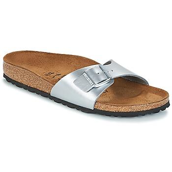 Pantofi Femei Papuci de vară Birkenstock MADRID Argintiu