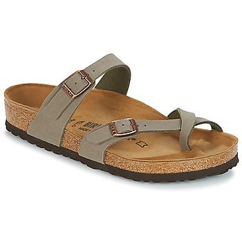 Pantofi Femei Papuci de vară Birkenstock MAYARI Gri