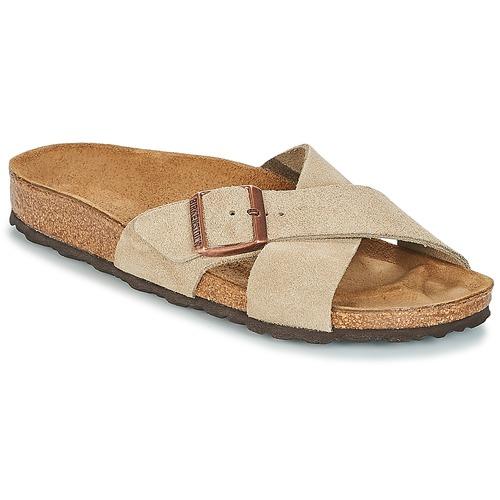 Pantofi Femei Papuci de vară Birkenstock SIENA Taupe