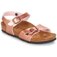 Încăltăminte Fete Sandale și Sandale cu talpă  joasă Birkenstock RIO Roz