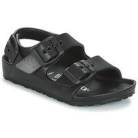 Pantofi Băieți Sandale  Birkenstock MILANO-EVA Negru