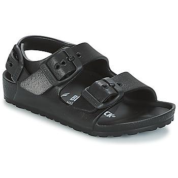 Pantofi Copii Sandale și Sandale cu talpă  joasă Birkenstock MILANO-EVA Negru