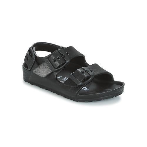 Pantofi Băieți Sandale și Sandale cu talpă  joasă Birkenstock MILANO-EVA Negru