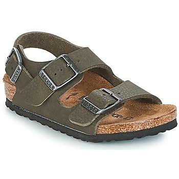 Pantofi Băieți Sandale și Sandale cu talpă  joasă Birkenstock MILANO Verde