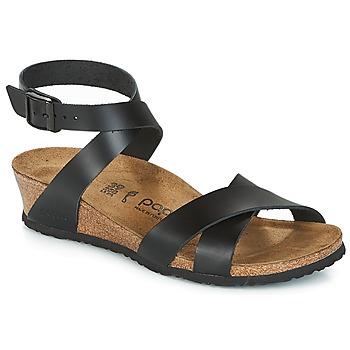 Încăltăminte Femei Sandale și Sandale cu talpă  joasă Papillio LOLA Negru