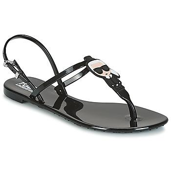 Pantofi Femei Sandale și Sandale cu talpă  joasă Karl Lagerfeld JELLY KARL ICONIK Negru