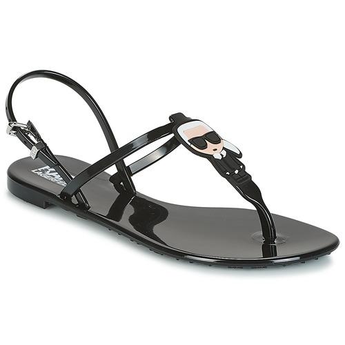 Pantofi Femei Sandale  Karl Lagerfeld JELLY KARL ICONIK Negru
