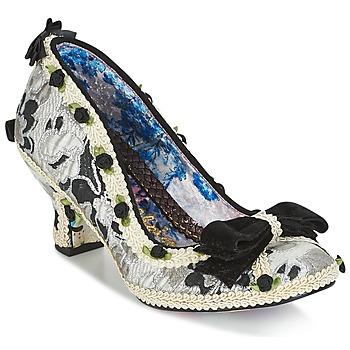 Încăltăminte Femei Pantofi cu toc Irregular Choice BISH BASH BOW Argintiu / Negru