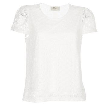 Îmbracaminte Femei Topuri și Bluze Betty London I-LOVI Alb