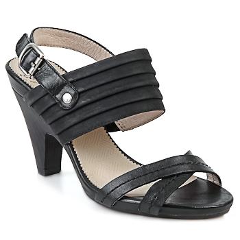 Pantofi Femei Sandale și Sandale cu talpă  joasă Wonders BELTRAO Negru