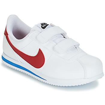 Pantofi Băieți Pantofi sport Casual Nike CORTEZ BASIC PRE-SCHOOL Alb / Albastru / Roșu