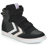 Pantofi Fete Pantofi sport stil gheata Hummel STADIL LEATHER JR Negru