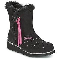 Pantofi Fete Cizme de zapadă Skechers SPARKLES Negru / Roz