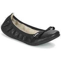 Pantofi Femei Balerin și Balerini cu curea LPB Shoes ELLA Negru
