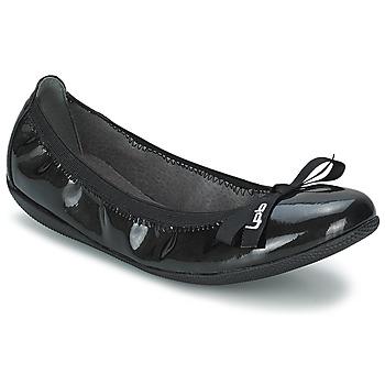 Pantofi Femei Balerin și Balerini cu curea LPB Shoes ELLA VERNIS Negru