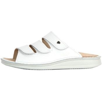 Pantofi Femei Papuci de vară Finn Comfort Korfu Weiss Nappa Alb