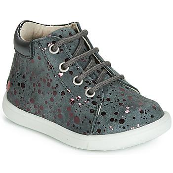 Încăltăminte Fete Pantofi sport stil gheata GBB NICKY Vte /  gri-buline / Roz / Dpf / Messi