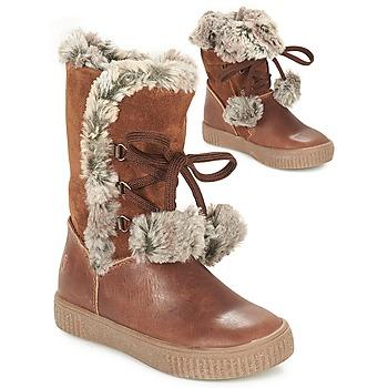 Pantofi Fete Cizme casual GBB NOUSTIK Coniac