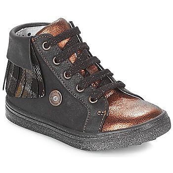 Pantofi Fete Pantofi sport stil gheata Catimini LOULOU Negru / Alamă