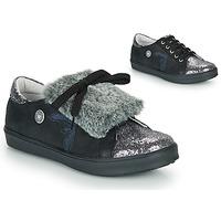 Pantofi Fete Pantofi sport Casual Catimini MARGOTTE Negru / Argintiu