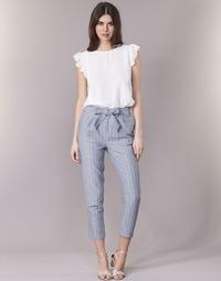 Îmbracaminte Femei Pantalon 5 buzunare Betty London IKARALE Albastru / Alb