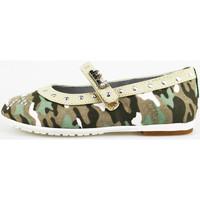Pantofi Fete Balerin și Balerini cu curea Didiblu AG488 Verde