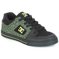 Încăltăminte Copii Pantofi sport Casual DC Shoes PURE SE B SHOE BK9 Negru / Verde