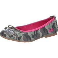 Pantofi Fete Balerin și Balerini cu curea Lulu Pantofi De Balerină AG640 Verde