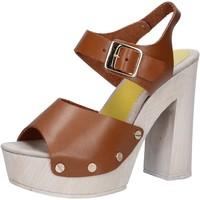 Pantofi Femei Sandale  Suky Brand sandali marrone pelle AC482 marrone