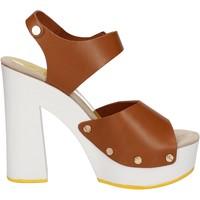 Pantofi Femei Sandale  Suky Brand sandali marrone pelle AC483 marrone