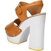 Pantofi Femei Sandale  Suky Brand sandali marrone pelle AC485 marrone