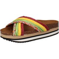 Pantofi Femei Șlapi 5 Pro Ject sandali verde tessuto giallo AC589 Multicolore