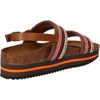 Pantofi Femei Sandale  5 Pro Ject sandali rosa tessuto marrone AC592 Rosa