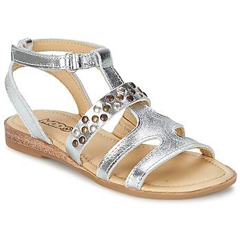 Pantofi Fete Sandale și Sandale cu talpă  joasă Mod'8 JADE Argintiu