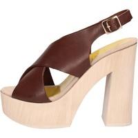Pantofi Femei Sandale  Suky Brand sandali marrone pelle AC799 marrone