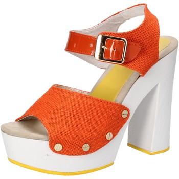 Pantofi Femei Sandale  Suky Brand sandali arancione tessuto vernice AC802 arancio