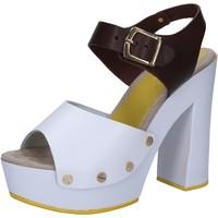 Pantofi Femei Sandale  Suky Brand sandali bianco pelle marrone AC809 Multicolore