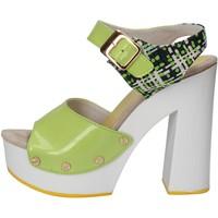 Pantofi Femei Sandale  Suky Brand sandali verde vernice tessuto AC811 Verde