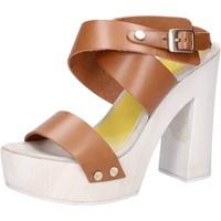 Pantofi Femei Sandale  Suky Brand sandali marrone pelle AC816 marrone