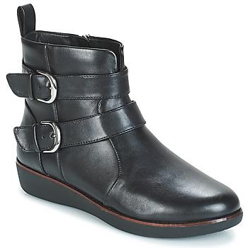 Pantofi Femei Ghete FitFlop LAILA DOUBLE BUCKLE Negru