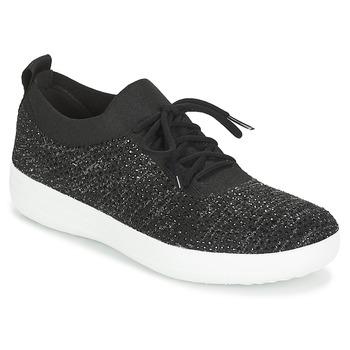 Încăltăminte Femei Pantofi sport Casual FitFlop F SPORTY UBERKNIT SNEAKERS CRYSTAL Negru