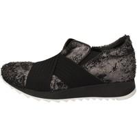 Pantofi Femei Pantofi sport Casual Andia Fora sneakers argento tessuto nero pelle AD326 Nero