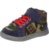 Pantofi Băieți Pantofi sport stil gheata Blaike sneakers blu camoscio verde pelle AD769 Multicolore