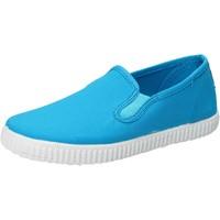 Pantofi Băieți Pantofi Slip on Cienta slip on celeste turchese tessuto profumate AD780 Blu