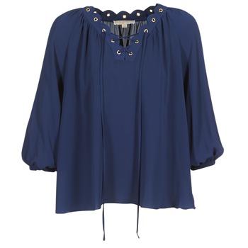 Îmbracaminte Femei Topuri și Bluze MICHAEL Michael Kors SCALLP GRMT CHAIN TOP Bleumarin